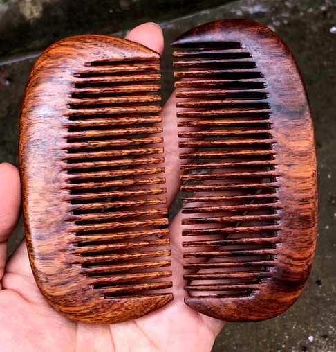 海南黄花梨一木两把木梳整料打造无拼补加厚更保值送礼寓意美好收藏有